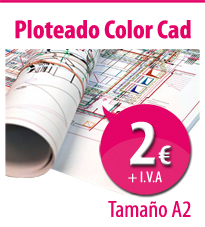 ploteado Cad color A2 Copisteria Barcelona